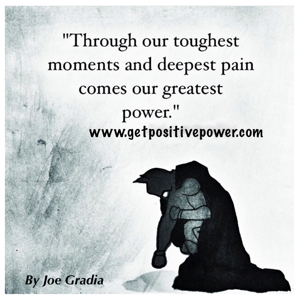 How do you deal with your deepest pain? By Joe Gradia