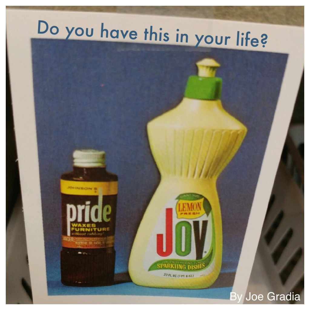 Are you PRIDE or Are you a JOY ? By Joe Gradia