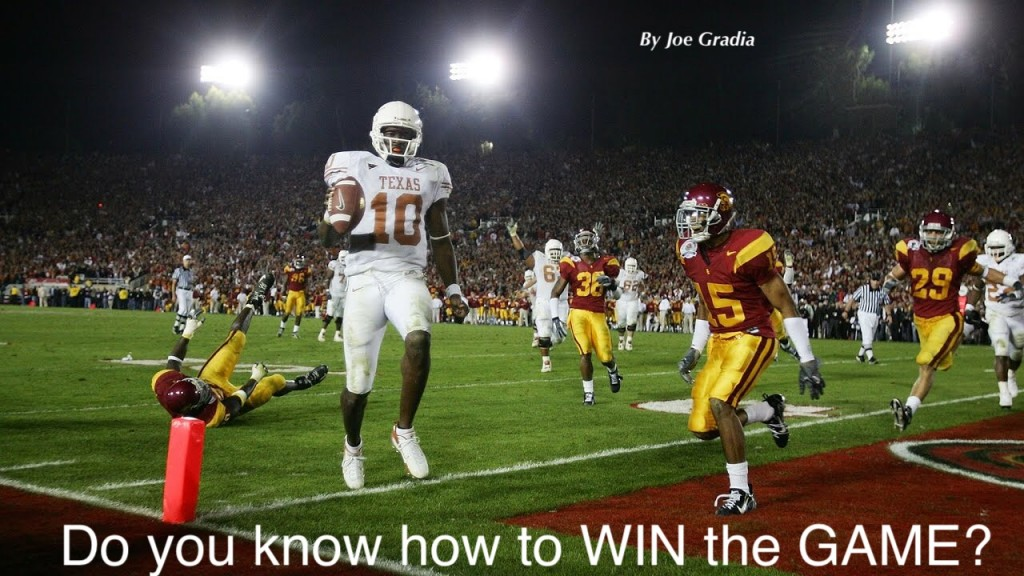Do you know how to win the game?  By Joe Gradia